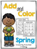 Spring Addition Worksheets (Cut and Paste)