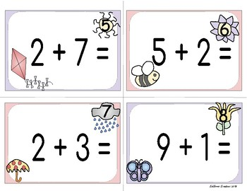 Addition Spring Scoot Sums to 10