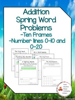 Addition Spring Word Problem Packet