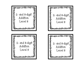 Two and Three Digit Addition Square Puzzle-Level 3