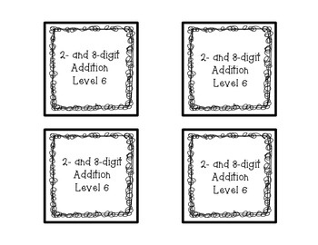 Two and Three Digit Addition Square Puzzle-Level 6