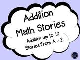 Addition Stories A-Z