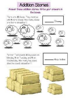 Addition Stories Mental Maths