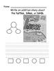 Addition Stories Practice Worksheets with pictures, number bonds, and sentences