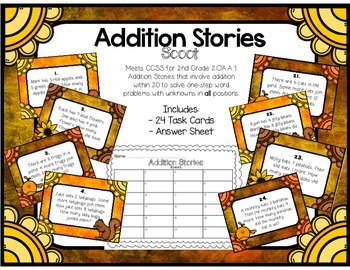 Addition Stories Scoot