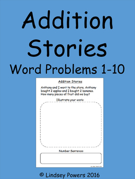 Addition Stories - Word Problems 1-10