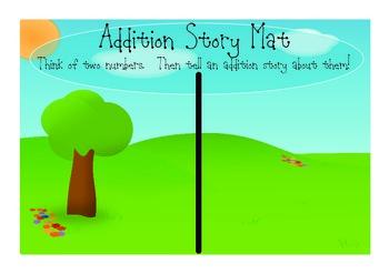 Addition Story Mat Math Workstation