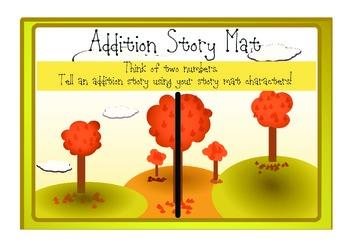 Addition Story Mats Math Workstation (Fall Theme)