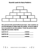 Addition Story Problem Pyramid