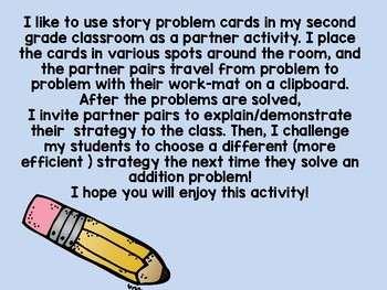 Addition Story Problems Freebie!