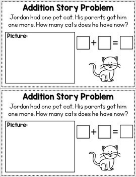 Addition Story Problems - Volume One