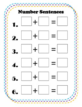 Addition Story Problems Activity