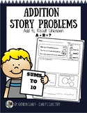 Addition Story Problems: Add To, Result Unknown (Sums to 10)