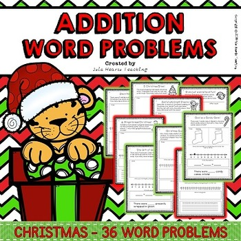 Christmas Word Problems (Addition Word Problems - Differentiated)