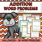Halloween Word Problems (Addition Word Problems - Differentiated)