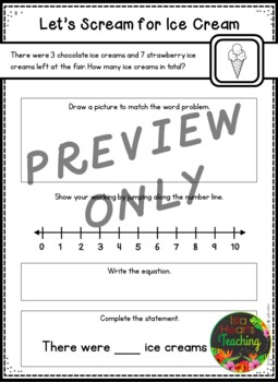First Grade Addition Word Problems (First Grade Differentiated - Three Levels)