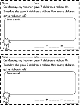 #dollardeals Addition Story Problems Sums to 10 {20 Story Problems}