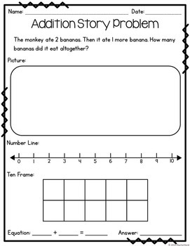 Addition Story Problems Within 20