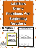 Addition Story Problems for Beginning Readers(Numbers 1-10)