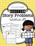Addition Story Problems within 20 {Editable}