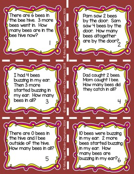 Addition Story Word Problems
