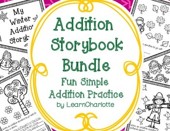 Addition Storybook Bundle {Fall, Winter, and Spring Themed}