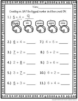 Addition Worksheets: Strategies