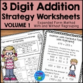 Addition Strategies Worksheets - 3 Digit Addition Expanded Form