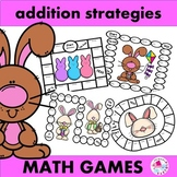 Addition Strategies Board Games Easter Set