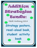 Addition Strategies Book, Activity, & Posters bundle