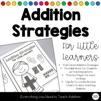 Addition Strategies Book Practice Pages for Each Adding Strategy *Growing Bundle