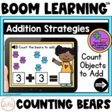 Addition Strategies: Count Bears to Add Boom Cards™