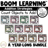 Addition Strategies: Count Objects to Add Boom Cards™: A Y