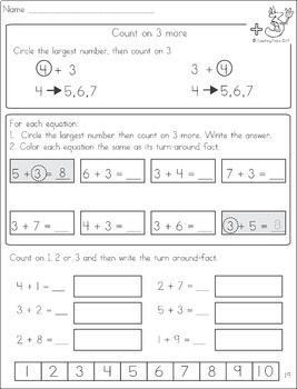 math worksheet : counting on  addition strategy worksheets by teaching trove  tpt : Addition Counting On Worksheets