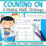 Counting On Addition Strategy Worksheets