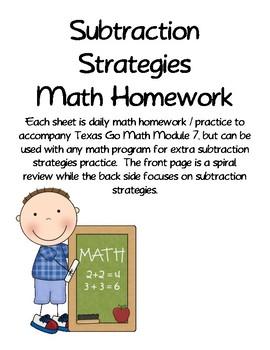 Subtraction Strategies Daily Practice