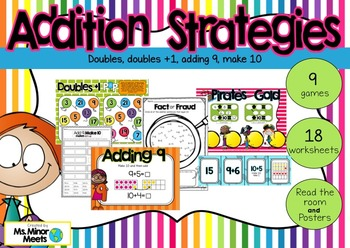 Addition Strategies (Games, Posters, Worksheets!)