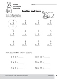 Addition Strategies, Grade 1: Mixed Strategies Practice