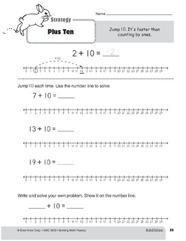 Addition Strategies, Grade 1: Plus Ten