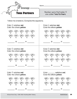 Addition Strategies, Grade 1: Tens Partners
