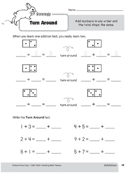 Addition Strategies, Grade 1: Turn Around