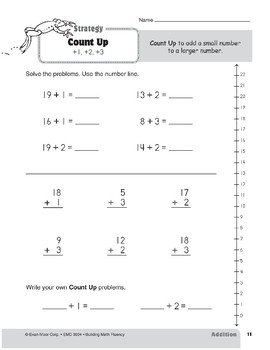 Addition Strategies, Grade 2: Count Up