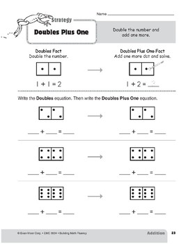 Addition Strategies, Grade 2: Doubles Plus One