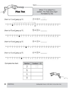 Addition Strategies, Grade 2: Plus Ten