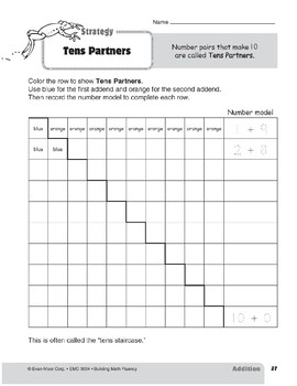 Addition Strategies, Grade 2: Tens Partners