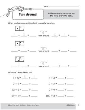 Addition Strategies, Grade 2: Turn Around