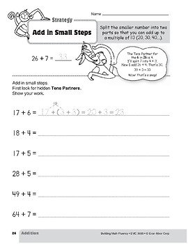 Addition Strategies, Grade 3: Add in Small Steps