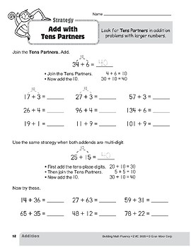 Addition Strategies, Grade 3: Add with Tens Partners