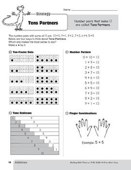 Addition Strategies, Grades 4-6+: Tens Partners