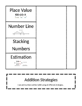 Addition Strategies Interactive Notebook